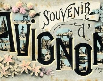Early 1900s Postcard of Avignon, France