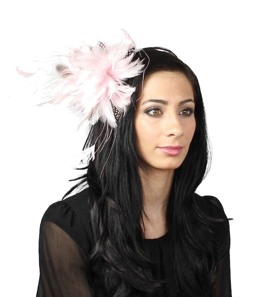 Guinea Pink Fascinator Hat for Weddings, Races, and Special Events With Headband
