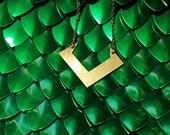 Brass Loki Necklace - Journey Into Mystery, Young Avengers
