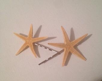 Small starfish bobby pins set of 2