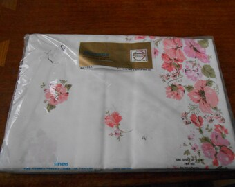 Stevens fine Combed percale twin flat sheet new in package