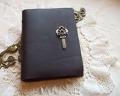 Blank Key Leather Writing Journal