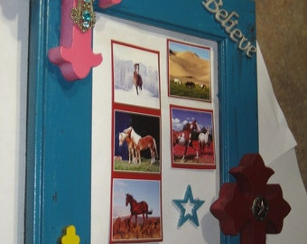 Distressed Picture Frame with Crosses