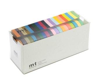mt Washi Masking Tape - Set of 20 - Bright & Dark Colors