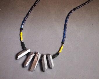Silverized Crystal Shard Necklace