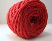 T-Shirt Yarn Hand Dyed- True Red- 60 Yards