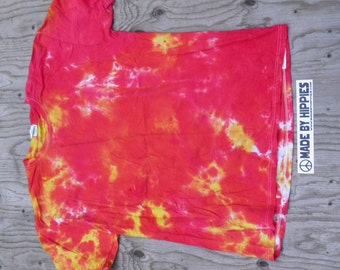 Volcano Tie Dye T-Shirt (Fruit of the Loom Size XL) (One of a Kind)