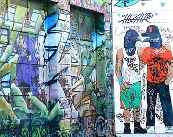 San Francisco Graffiti Art, Queer Birds Urban Photography, Modern Wall Decor, Street Art, LGBT Art, Queer Art, Urban Art, Graffiti Print