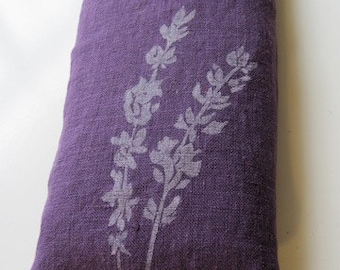 """Linen """"Lavender"""" eyepillow filled with flaxseed and lavender"""