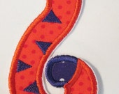 Sports Tiger Tail Iron On or Sew On Embroidered Applique  READY TO SHIP in 3-7 Business Days