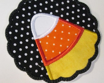 Iron On Halloween Applique - Candy Corn Scallop  - Ships in 1-3 Business Days
