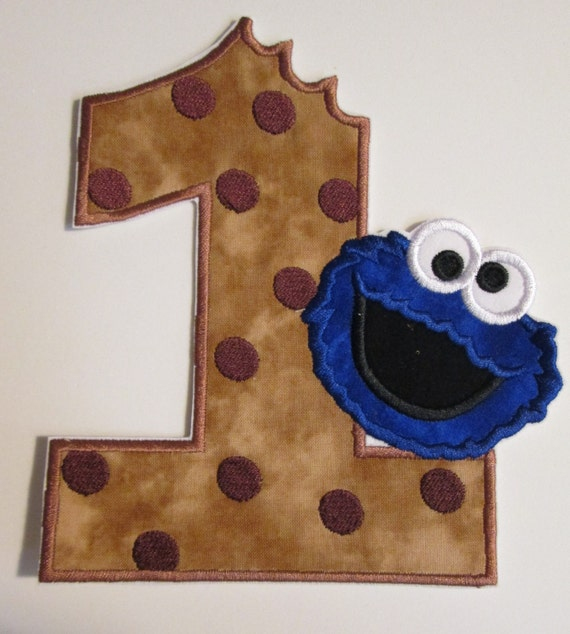 Iron On Applique -  Monster Birthday