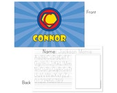 Super hero personalized placemat