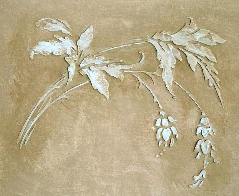 Plaster stencil anastasia frieze wall stencil painting for Pochoir deco murale