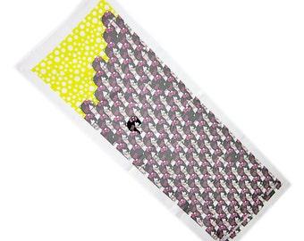 Japanese Tenugui cotton fabric cloth - The Ring - Hello Kitty Sadako Samara version (B)