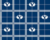 WINTER SALE - Brigham Young University - Flannel -  1 Yard - (more yardage available) - BYU