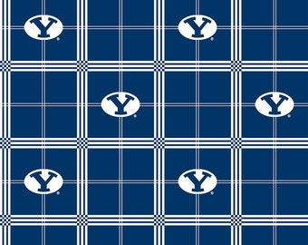 SPRING SALE - Brigham Young University - Flannel -  1 Yard - (more yardage available) - BYU