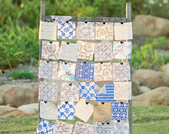 Wedding Guest Book Quilt, Big Blocks, Small Event, YOU Pick Fabric colors, Autograph, Wedding, Party, Graduation, guest book alternative