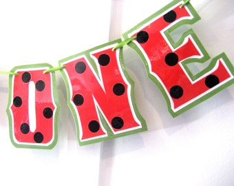 Watermelon Highchair Banner, Watermelon I AM ONE Banner, Watermelon First Birthday Banner, Watermelon Birthday Banner, Watermelon Banner