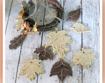 Autumn Memorial Leaves Memory Wind Chime Personalized