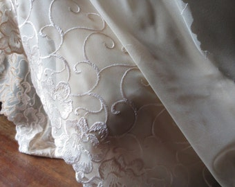Embroidered Lace in Peach for Lingerie, Bridal  CL 6057