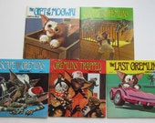 GREMLINS Books with READ ALONG Records, Stories 1-5 1980s Movie