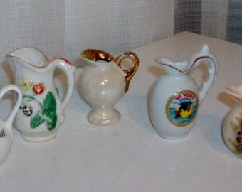 Instant Collection of Small Pitcher Figurines (4)