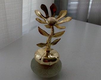 Keepsake Decanter with Bird of Paradise cream Sachet by Avon (Code d)