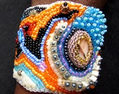 Freeform peyote  Bracelet - FREE SHIPPING