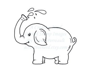 INSTANT download Baby ELEPHANT Digital Stamp Image for your Scrapbooking, card making, ATC's, Art, Mixed Media