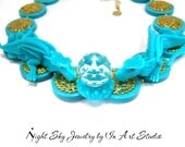 Turquoise Dragon Necklace for Women - Fantasy Dragon Jewelry Dragon Jewellery