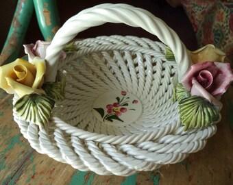 Vintage Campodimonte Italian Basket