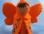 Orange Rainbow Fairy Doll- Waldorf Inspired