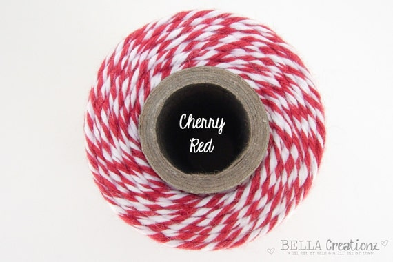 SALE - Cherry Red Bakers Twine by Timeless Twine - 1 Spool (160 Yards)