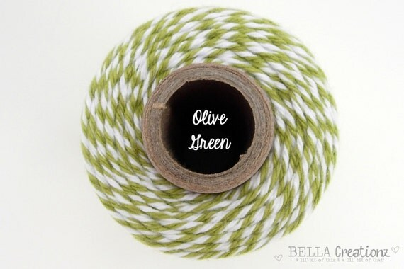 SALE - Olive Green  Bakers Twine by Timeless Twine - Goes GREAT with Stampin Up Old Olive
