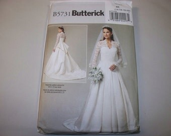 New Butterick Bridal Gown Pattern, 5731 EE (14-16-18-20) (Free US Shipping)