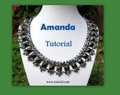 Amanda SuperDuo and Pyramid spike beads Beadwork Necklace PDF Tutorial