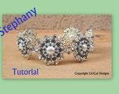 Stephany Pearls Swarovski Beadwork Bracelet PDF Tutorial
