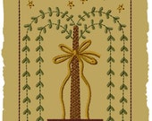 Primitive Machine Embroidery Design-Simple Blessings Willow--Version 1--(5x7)-INSTANT DOWNLOAD
