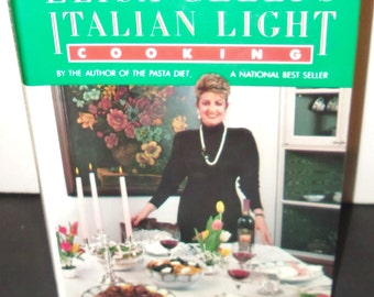 Italian Cookbook Elisa Celli Light Italian 1987 HC DJ