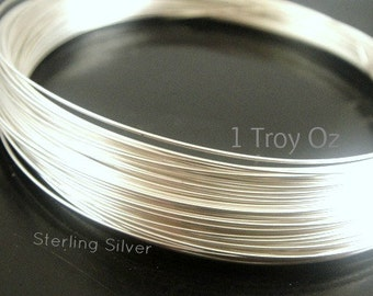 Sterling Silver Round Wire,  14,16,18,20,22,24,26,28,30 gauge ga g,  Wholesale Wire, Select your Size