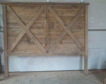 YOUR Made to Order Rustic and Recliamed Barn Wood King Headboard with FREE SHIPPING - BWKH125F