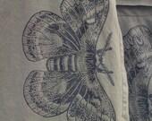 moth skirt. silkscreen. mini