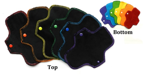 Black Rainbow<p>Set of 6 Pantyliners