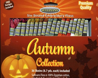 Sullivans Six-Strand Embroidery Floss Pack - Autumn Collection, 36 skeins