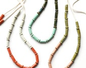 SALE 70% OFF - was 160 - Dip Necklace in contrasting colours, ceramic