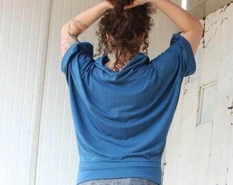Marisha Kimono Cowl Neck Top - Organic Fabric - Many Colors Available