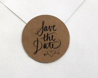Save the Date STICKERS for sealing envelopes set of 12