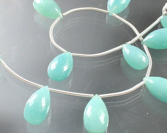 1/2 Strand AAA Amazonite Micro-Faceted Pear Briolettes Beads