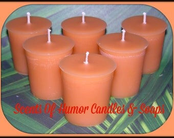 PINEAPPLE COCONUT Scented Votive Candles - Hand Made Votive Candles - Highly Scented - Strong Scent - Gift Boxed - Hand Poured - Made In USA